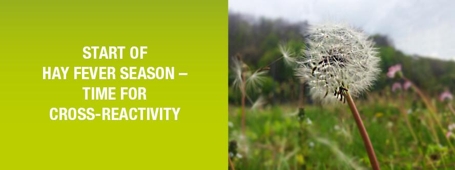 hay fever season and cross-reactivity