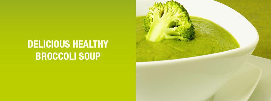 Delicious healthy broccoli soup