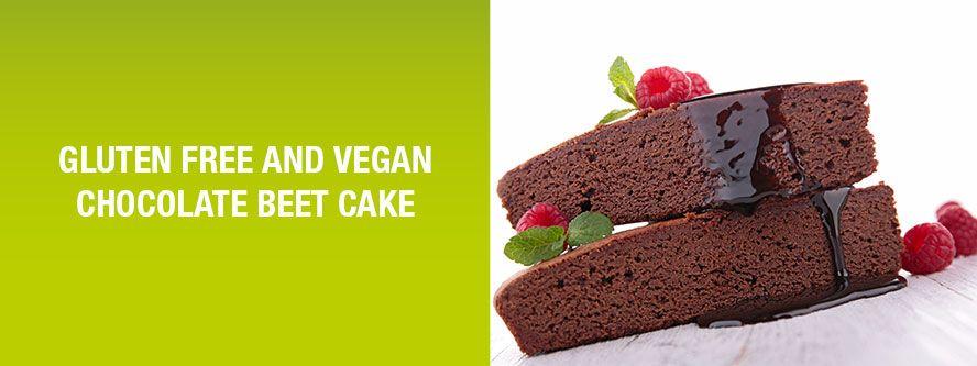 Gluten-free and vegan chocolate beet cake