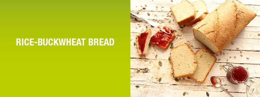 Rice-buckwheat bread